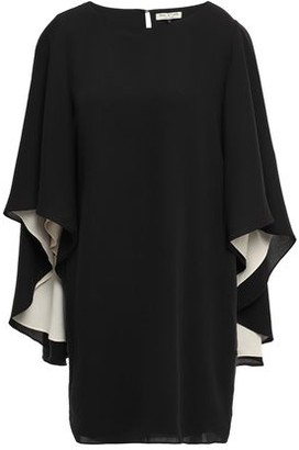 Halston Cape-effect Cady Mini Dress