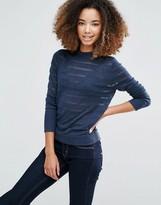 Shae Shadow Stripe Turtleneck Sweater