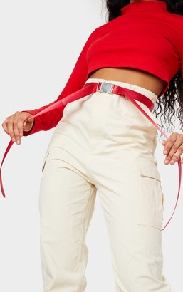 Impulse Red Carabiner Clip Double Taping Belt