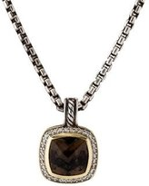 David Yurman Smoky Quartz & Diamond Pendant Necklace
