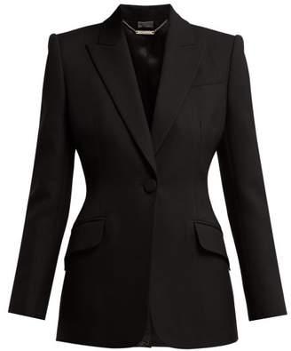 Alexander McQueen Sculptural Wool-blend Blazer - Womens - Black