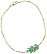 Finn 7 Emerald Leaf Chain Bracelet