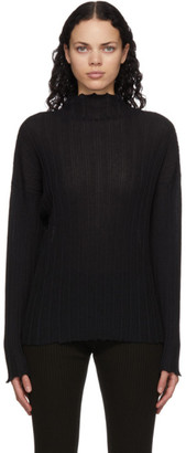 RUS Black Merino Noto Turtleneck