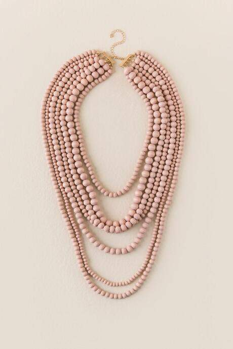 b2ac1c8fbaa57 Nyla Beaded Multi-Strand Necklace - Mauve