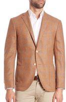 Corneliani Windowpane Wool-Cashmere Sportcoat