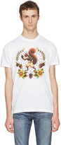 DSQUARED2 White Boxing Squirrel T-shirt