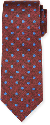 Kiton Men's Symmetric Dots Silk Tie