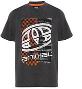 Animal Boys' Printed T-Shirt, Charcoal