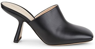 Nicholas Kirkwood Alba Square-Toe Leather Mules