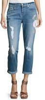 7 For All Mankind Josefina Embroidered Botanical Relaxed Jeans, Indigo