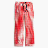 J.Crew Petite gingham flannel pajama pant