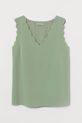 H&M Sleeveless Blouse - Green