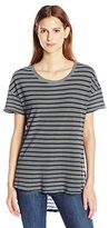 Splendid Women's Sequoia Yarn Dye Stripe Hi Lo Uneck Tee