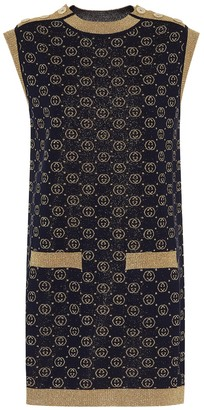 Gucci GG wool-blend jacquard shift dress