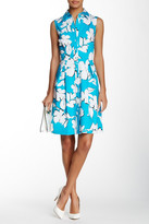 Sandra Darren Sleeveless Printed Shirt Dress