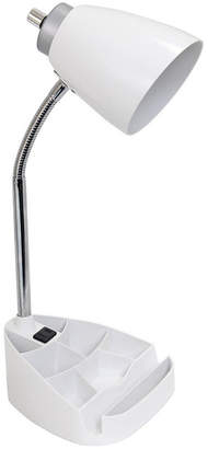 Limelight Gooseneck Organizer Desk Lamp with iPad Tablet Stand Book Holder and Charging Outlet