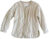 Velvet Ecru Cotton Jacket for Women