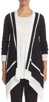 St. John Women's Sport Collection Intarsia Stripe Knit Cardgian