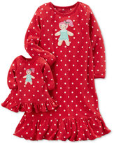 Carter's 2-Pc. Gingerbread Nightgown and Doll Nightgown Set, Toddler Girls (2T-5T)