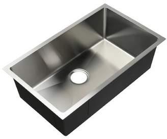 """evo Hahn 30"""" L x 18"""" W Undermount Kitchen Sink with Drain Assembly Hahn"""