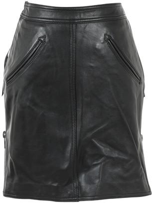 Jeremy Scott Black Leather Skirts