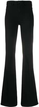 L'Agence High Rise Flared Leg Jeans