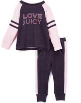 Juicy Couture Navy Logo Sweatshirt & Pink Sweatpants - Infant