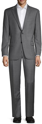 Hickey Freeman Classic-Fit Stripe Wool Suit