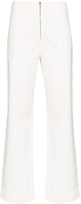 Isabella Collection high-rise flared trousers