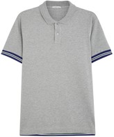Moncler Grey Piqué Cotton Polo Shirt