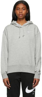 Nike Grey Sportswear Essential Cropped Hoodie