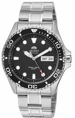 Orient Men's Japanese Automatic Sport Watch with Stainless Steel Strap Silver 22 (Model: FAA02004B)