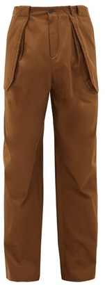 Wales Bonner Jose Wide-leg Cotton-blend Cargo Trousers - Brown
