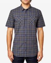 Fox Men's Short-Sleeve Plaid-Print Shirt