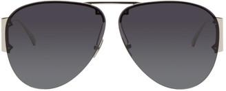 Bottega Veneta Silver Aviator Sunglasses