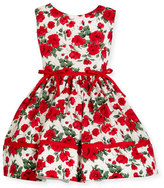 Helena Red Roses Sleeveless Dress, Size 12M-3Y