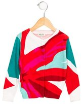 Kenzo Girls' Abstract Print Button-Up Cardigan