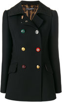 Dolce & Gabbana decorative buttoned pea coat