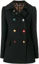 Dolce & Gabbana decorative buttoned pea coat