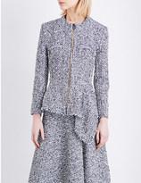 Roland Mouret Elen peplum-hem tweed-boucle jacket