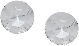 Saint Laurent Smoking crystal clip-on earrings