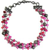 Ice 30 2/3 CT TW Ruby and Fancy Diamond Black-Plated Sterling Silver Beaded Link Bracelet