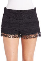 French Connection Crochet Overlay Shorts