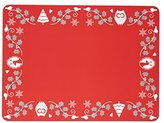 Kitchen Craft 29 x 21.5 cm Winter Woodland Cork Backed Placemats, Set of 4, Red