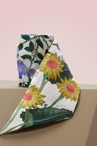 Gucci New Flora print silk neck bow