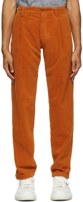 DOPPIAA Orange Corduroy Antioco Trousers
