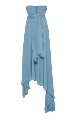 Rokh Draped Asymmetric Crepe Maxi Skirt