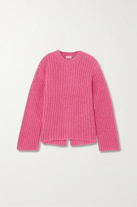 By Malene Birger Net Sustain Nosema Open-back Alpaca-blend Sweater - Magenta