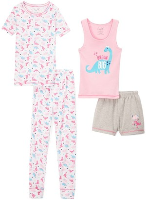 Rene Rofe Girl Girls' Sleep Bottoms ASSTPRINTS - White & Pink 'Dream Big' Pajama Set - Girls