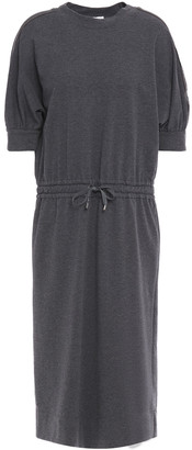 Brunello Cucinelli Bead-embellished French Cotton-blend Terry Midi Dress